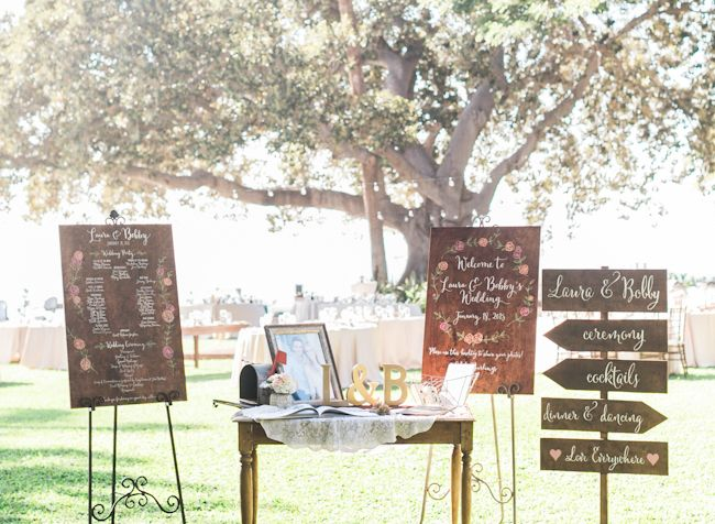 Maui wedding ceremony signs by Miss B Calligraphy / Luxury Maui Wedding Planner Olowalu Plantation House