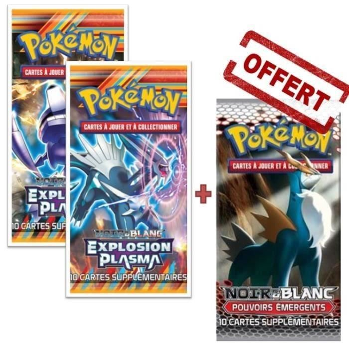 pokemon packs | POKEMON XY Pack 3 boosters NOIR ET BLANC - Achat / Vente carte a ...