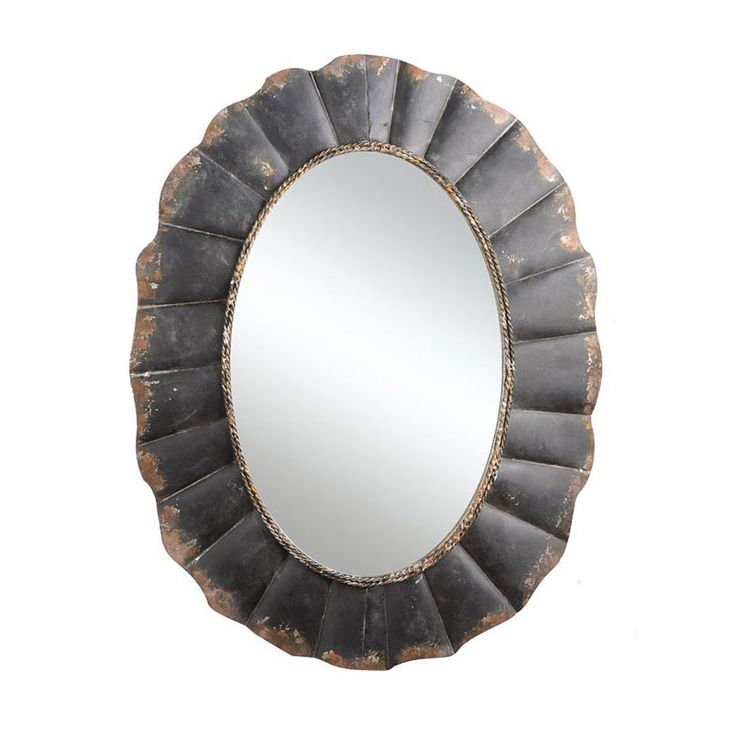 Do you enjoy the loved, worn feel of vintage and well-used items? You'll love this framed oval mirror. Change up your wall décor with its artfully distressed metal frame—it looks like it has stories to...  Find the Distressed Frame Mirror, as seen in the Lovely French Farmhouse Collection at http://dotandbo.com/collections/lovely-french-farmhouse?utm_source=pinterest&utm_medium=organic&db_sku=CCO0323