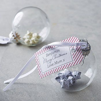 Origami personalised bauble