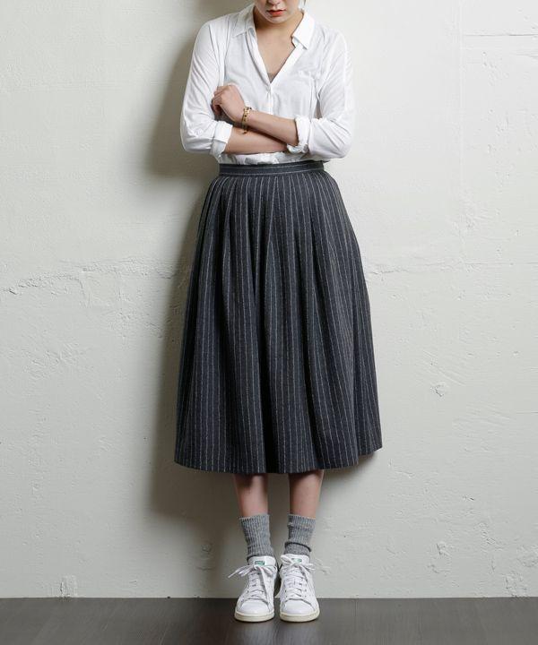 ストライプスカート #シータ・ミュー
