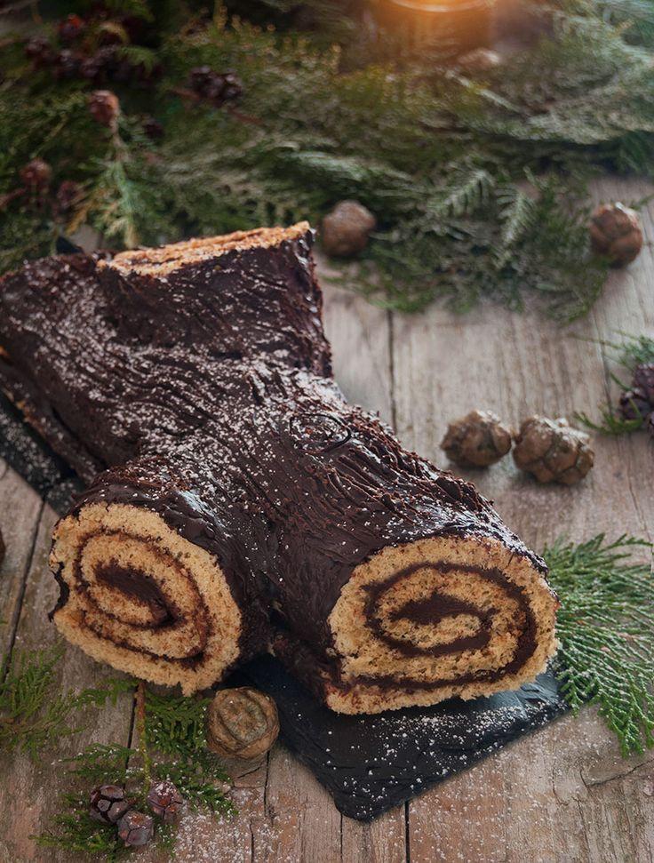 Tronco de Navidad de vainilla y chocolate/ Vanilla & chocolate yule log