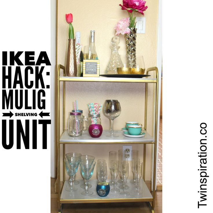 ikea hack mulig shelving unit bar cart ikea hacks diy bar and shelving units. Black Bedroom Furniture Sets. Home Design Ideas