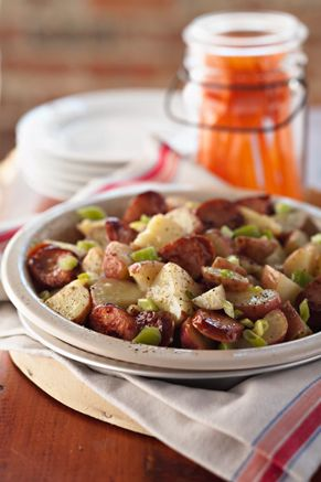 Check out what I found on the Paula Deen Network! Bobby's Favorite Sausage Potato Salad http://www.pauladeen.com/bobbys-favorite-sausage-potato-salad