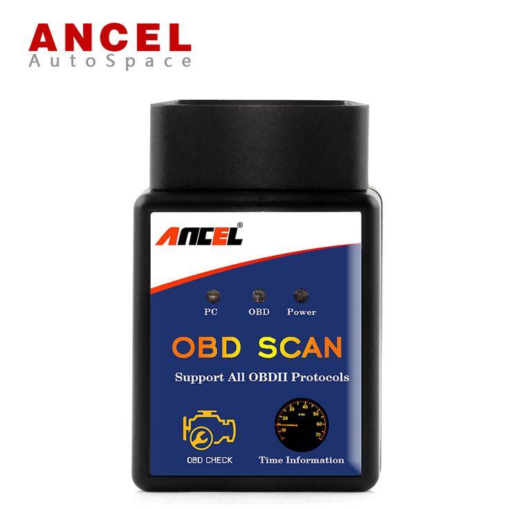 Ancel Universal OBD2 EOBD ELM327 V1.5 Bluetooth Auto Escáner Lector herramienta ELM 327 V 1.5 OBD Scan Adapter ODBII PIC18F25K80 J1850