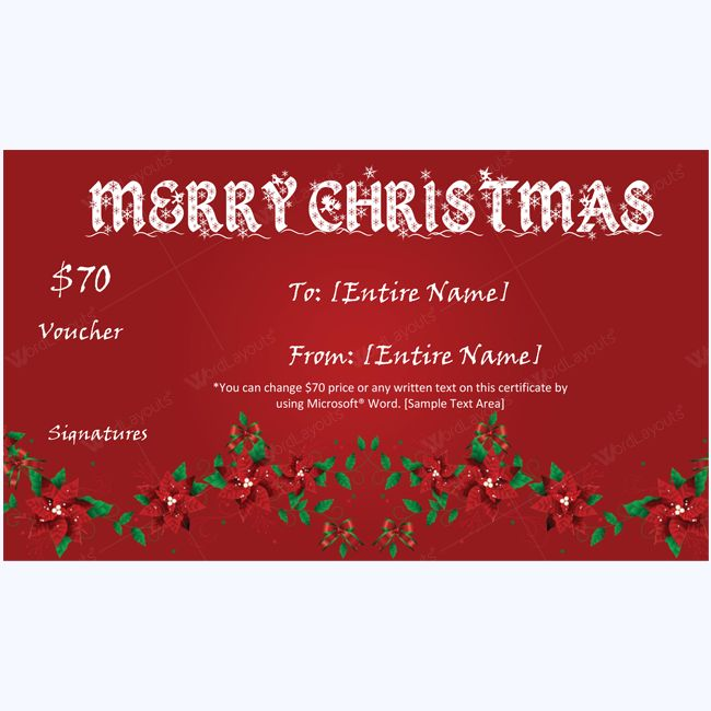 Gift certificate word tomu 61 best merry christmas gift certificate templates images on gift certificate word yadclub Choice Image