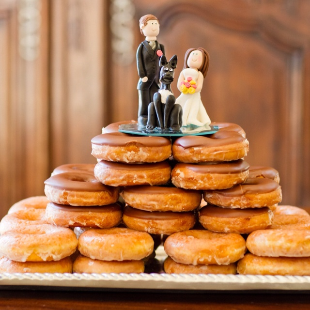 Krispy Kreme Donut Wedding Cake With Our Dog Willie On