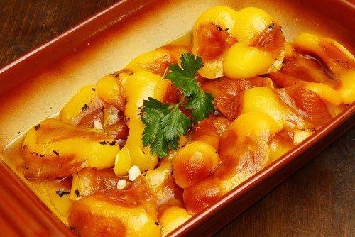 Маринованные сладкие перцы с лимоном