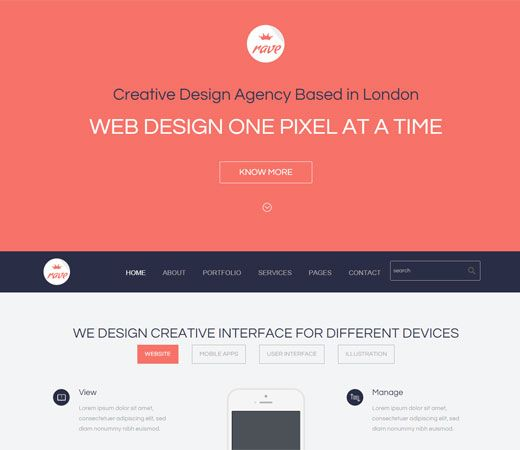 Rave a Corporate Portfolio Flat Bootstrap Responsive web template. http://w3layouts.