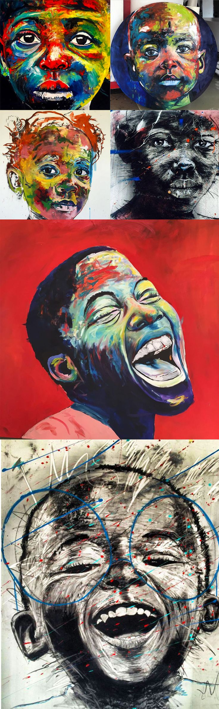 Artist Nelson Makamo's Dynamic Portraits of Johannesburg Children