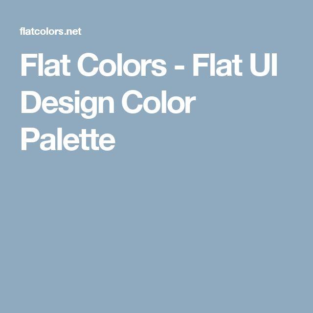 Flat Colors - Flat UI Design Color Palette