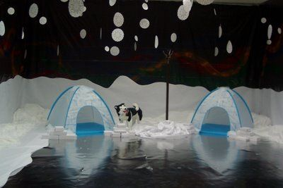 They really went all-out in decorating this room for their Arctic-themed VBS, didn't they! Very cool. #vbs #kidmin