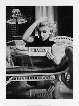 klassischer Kunstdruck Marilyn Monroe, Motion Picture von Ed Feingersh