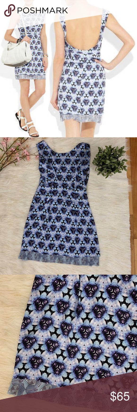 Acne Studios Betty Print Scoopback Dress Blue 38 Bundle Discount: 20% OFF 3+ ITE…