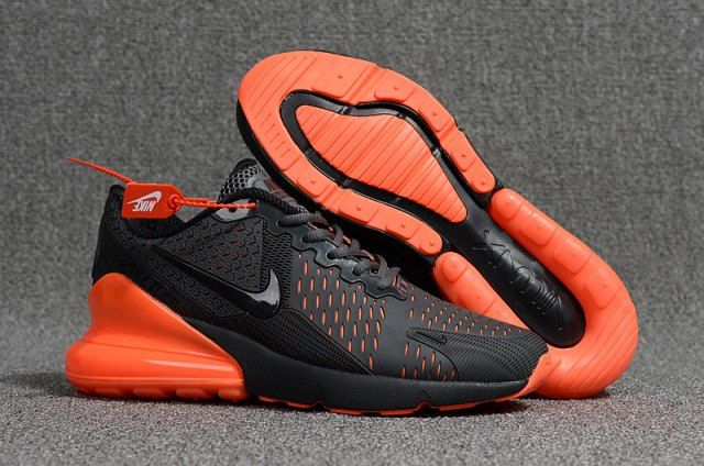 orange and black nike running shoes