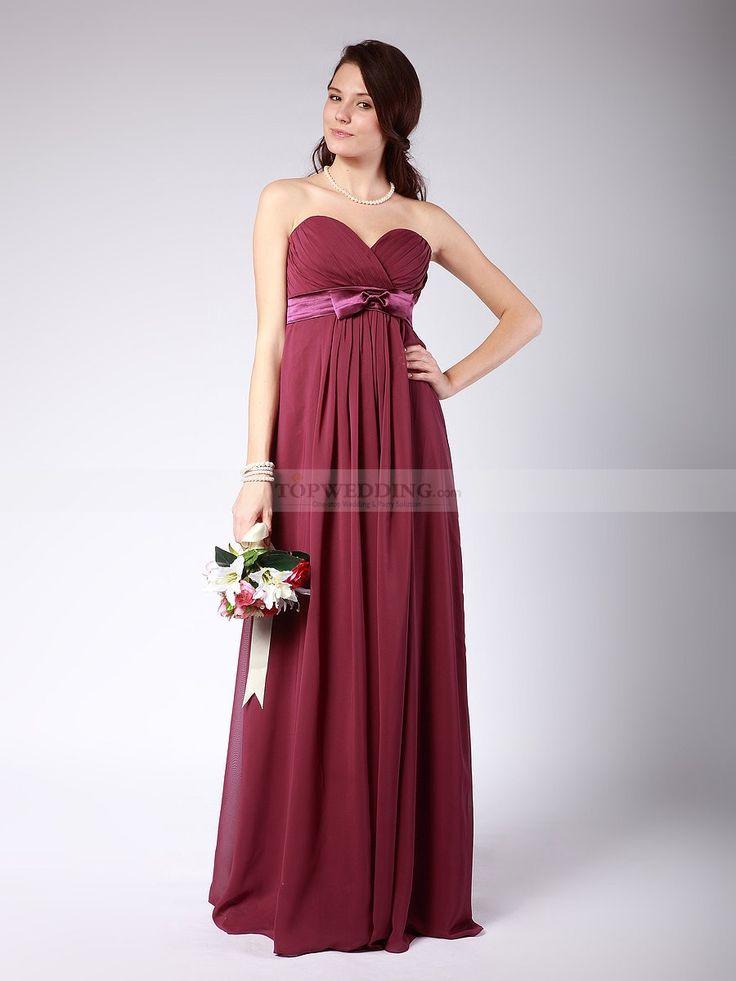 Sweetheart Empire Bridesmaid Dress with Bow Sash 0114001