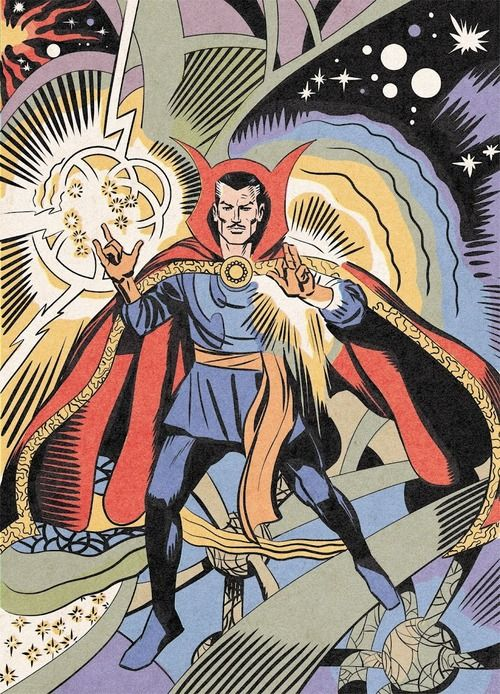 "theimaginauts: "" Dr. Strange - Art by Steve Ditko """