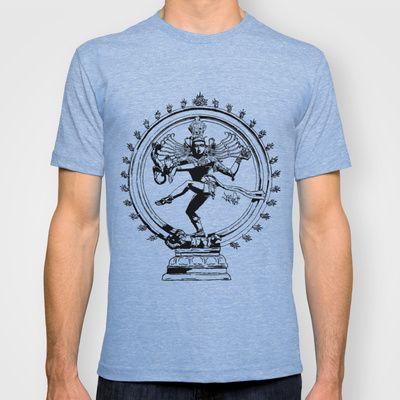 Natraj Dance - Mono T-shirt by Vee Ladwa - $22.00