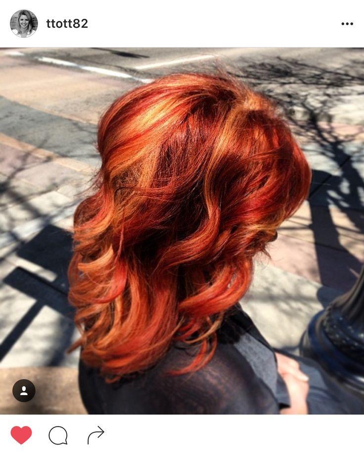 #taylormadehair Taylor Roberts (@ttott82) Halcyon Salon & Spa (@salonhalcyon) red, copper, orange, bright, highlights, hair, Aveda