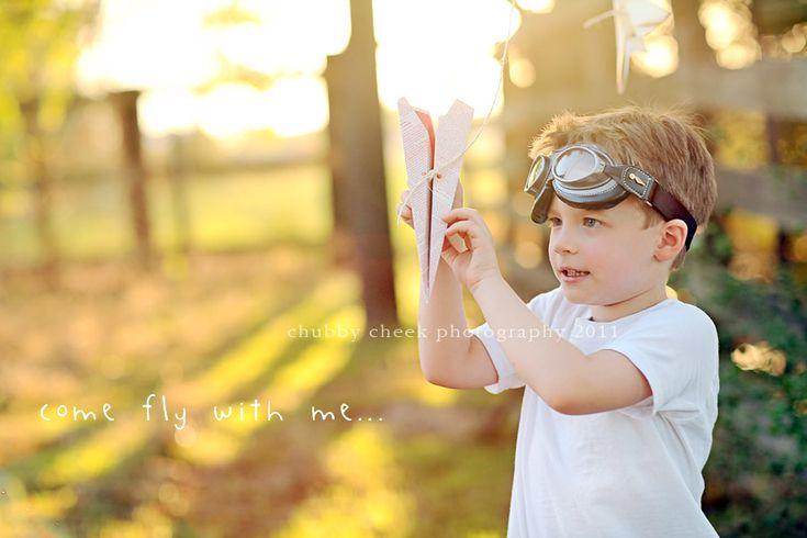 little boys paper airplane shoot...amazing!