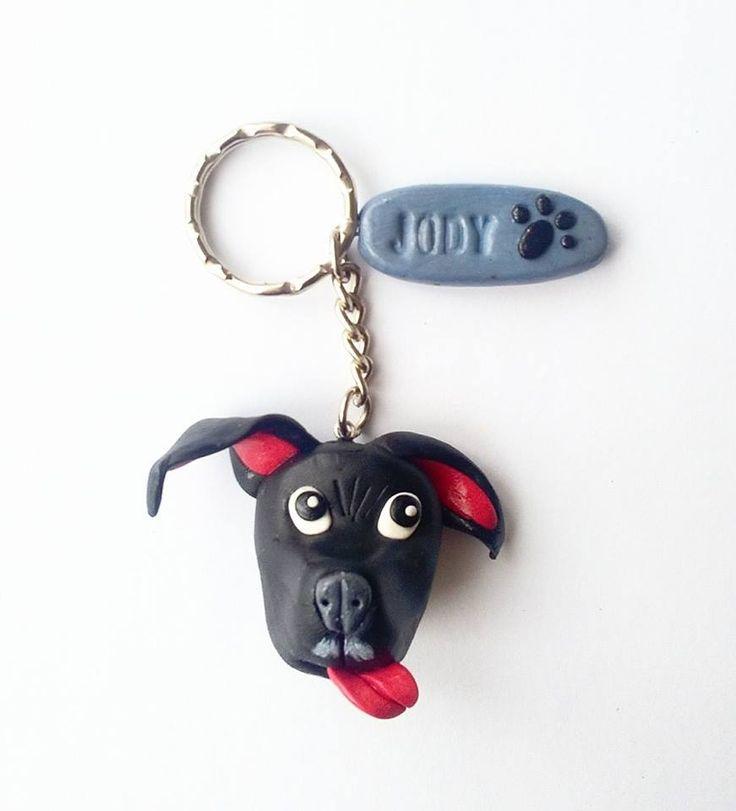 polymer clay, fimo, handmade, dog