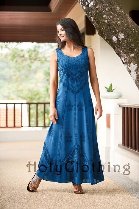 Ena Empire Waist Satin Lace Renaissance Gothic Sun Dress - Dresses
