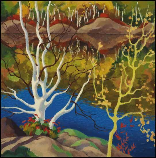 "Edwin Headley Holgate (1892-1977) Canadian - "" Lake Reflection, Mt.Tremblant """