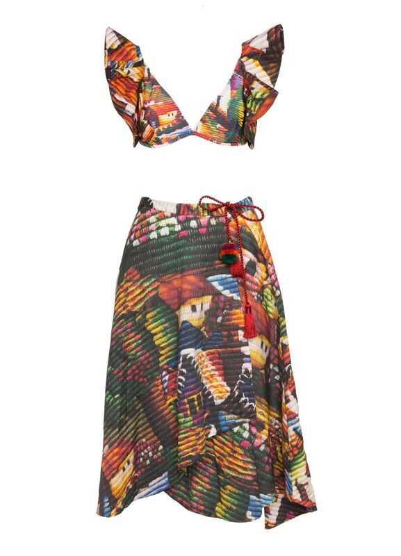 The Vilas Top and Midi Skirt by Água de Coco. Shop them at http://meliestore.com