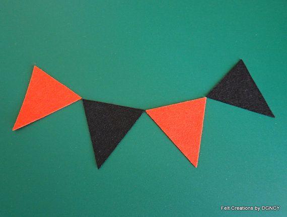 Die cut felt triangle halloween colors 24 by FeltCreationsbyDGNCY