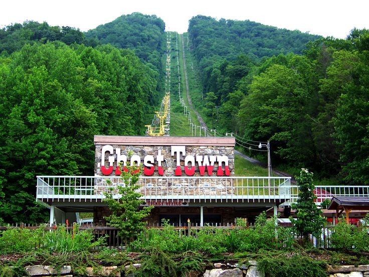Ghost Town in Maggie Valley, NC (Love the chairlift ride up to the top!) Great shows and rides on top of the mountain. Bucket list!!