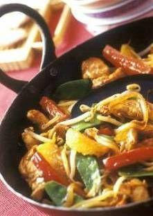 Recette de Wok de légumes au poulet