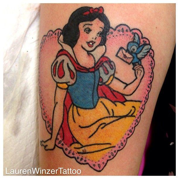 Snow White tattoo // Love the cameo design