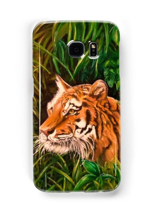 Galaxy Case,  green,colorful,cool,beautiful,fancy,unique,trendy,artistic,awesome,fahionable,unusual,accessories,for,sale,design,items,products,gifts,presents,ideas,tiger,wildlife,jungle,redbubble