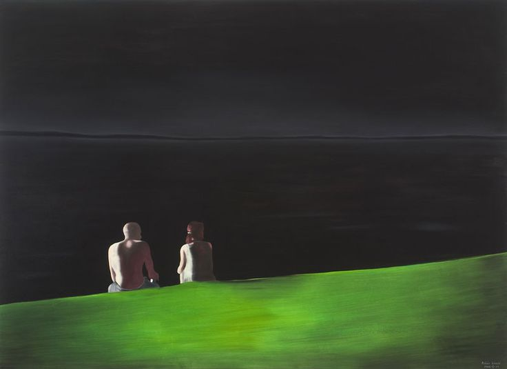 László Fehér (Hungarian, b.1953), Esti táj [Evening Landscape], 2006, oil on canvas, 160 x 220 cm
