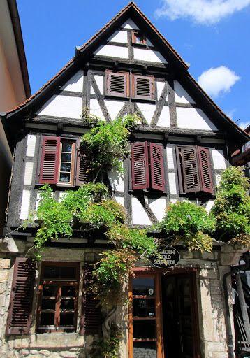 Tuebingen, Germany, typical house in the inner city. Tuebingen is an amazing German city.