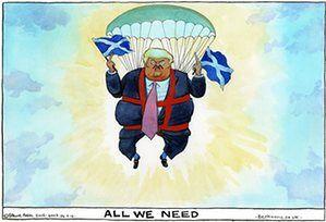 Steve Bell on Donald Trump's Scotland visit – cartoon | Opinion | The Guardian