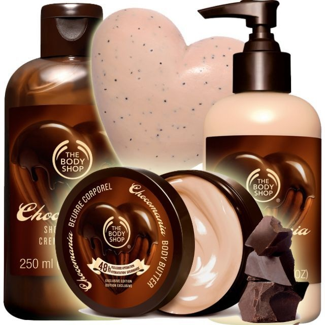 Chocolate and the bodyshop mixed together! It can't get any better than that!