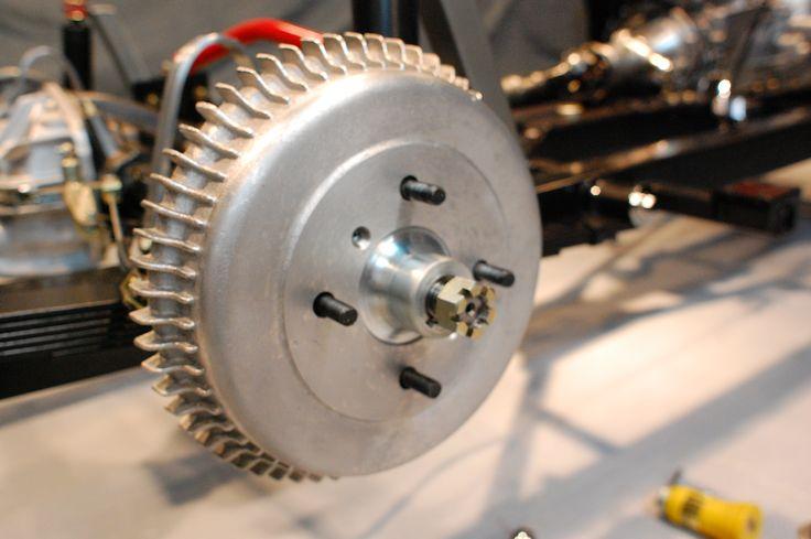 """9"""" Alfin finned aluminum brake drum."""