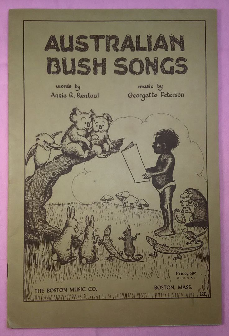 Australian Bush Songs, 1943, Children's Music Song book, Aussie Music, Down Under, Outback, Australian, Aboriginee, Verse, Song, Vintage by Eclectiquesdotorg on Etsy