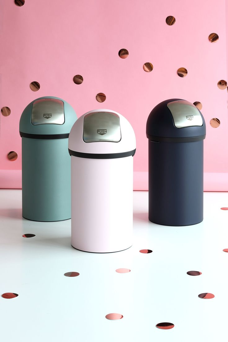 Our brand new Mineral Push Bins! #Brabantia