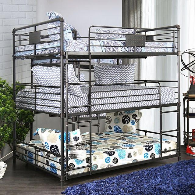 Reston Metal Full Size Triple Bunk Bed Triple bunk bed