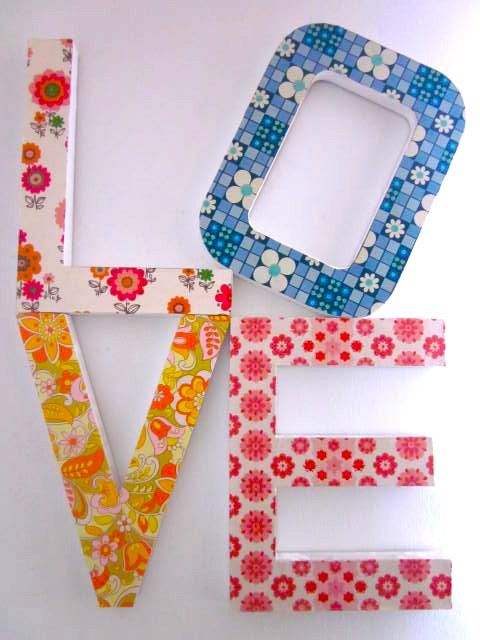 Wallpaper covered letters, spell inspirational words or your name
