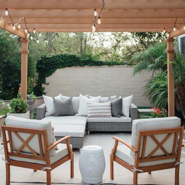 Belham Living Anatara All Weather Wicker Sofa Sectional Set
