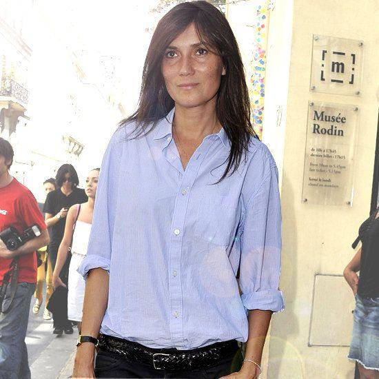Sleeves rolled up. Emmanuelle Alt, Vogue Paris editor.
