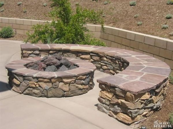 Budget Fire Pit Seating Wall Back Patio Fire Pit