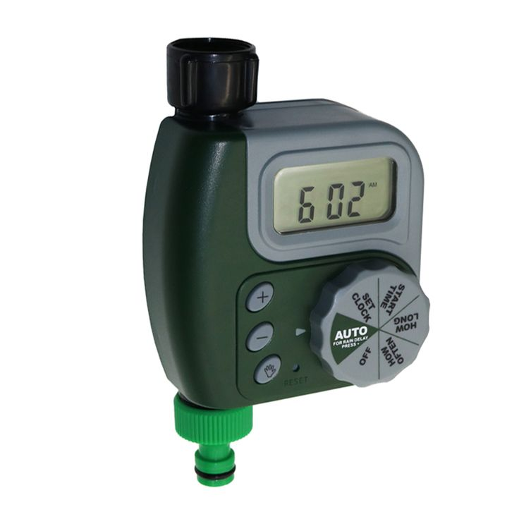 LCD irrigation Timer Intelligent electronic Garden timers Solenoid valve water timer G3 / 4 adapter nipple connector
