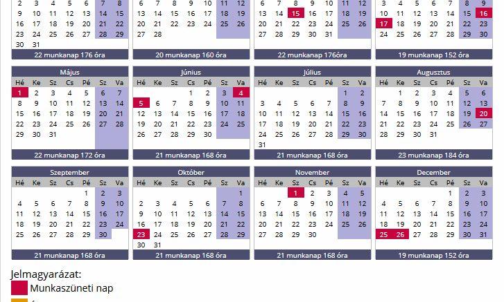 MUNKAIDŐ NAPTÁR 2017 – DOLGOZÓK FIGYELEM! KIJÖTT A 2017-ES MUNKAIDŐ NAPTÁR! MENTSD EL MOST! – 24 óra! – Friss hírek, pénzügyek a nap 24 órájában
