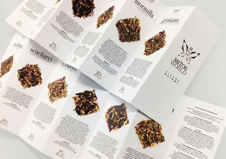Mitos World - Progetto grafico  folder prodotti. Stampa su carta usomano 170gr. con piega a fisarmonica.