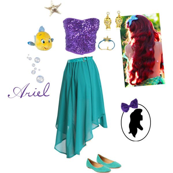 """Ariel Costume (:"" by briellestanek on Polyvore"