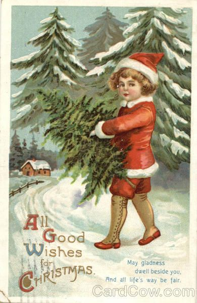 All Good Wishes for Christmas May gladness dwell beside you, and all life's way be fair.